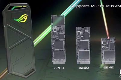 华硕ROG推出RGB m.2硬盘盒:支持USB 3.2 Gen2数据传输-1