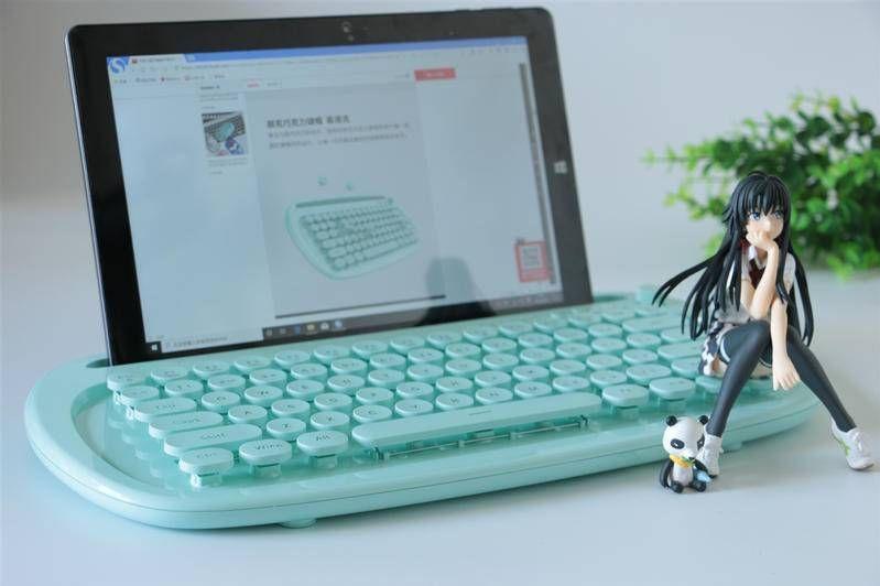 绚丽多彩卡哇伊,小姐姐都喜欢的巧克力蓝牙平板专用键盘实测-1
