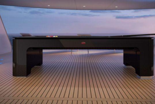 布加迪发布售价30万美元台球桌,全球限量30台,支持在游艇上使用-1